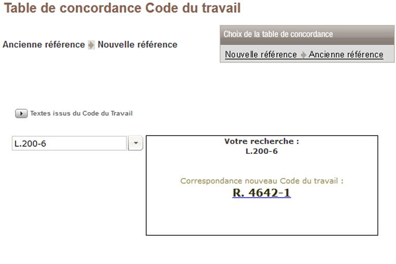 Conventions collectives en int gralit et jour - Table de concordance code du travail ...