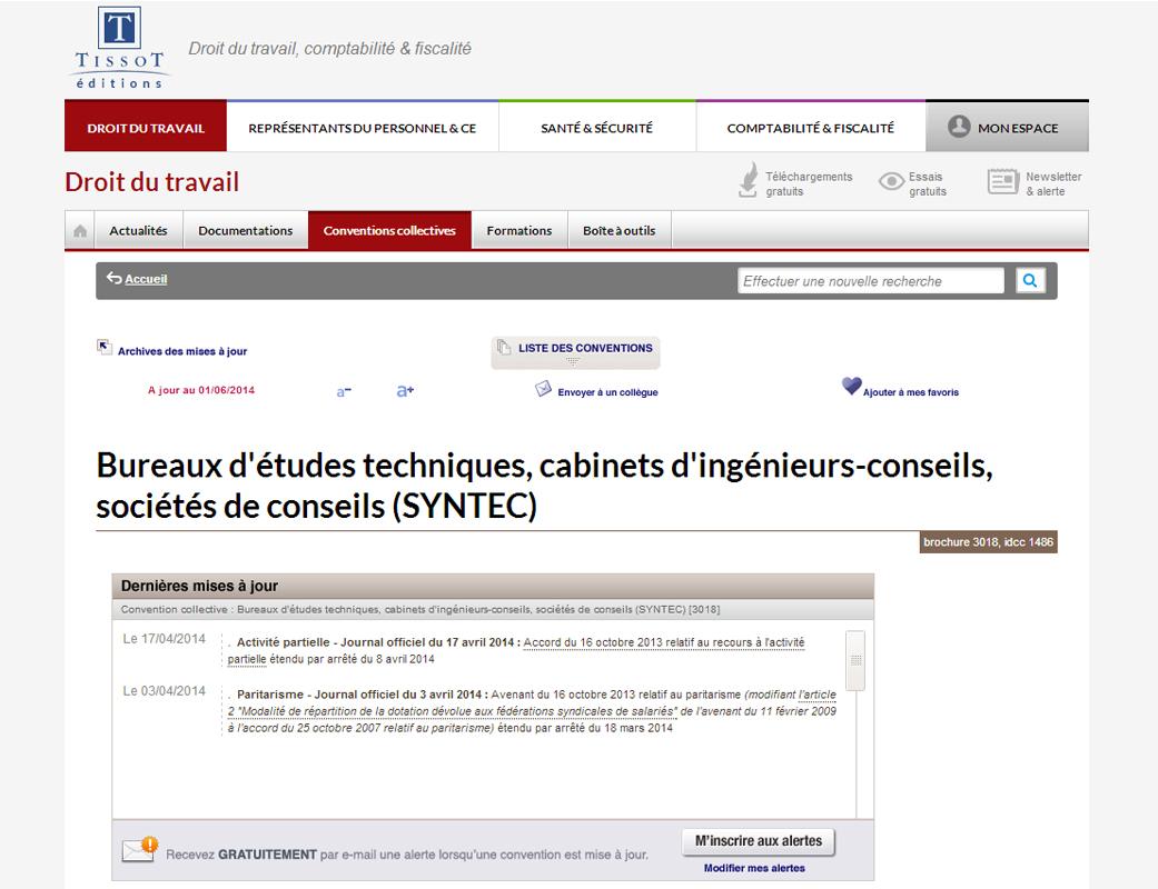Droit du travail syntec editions tissot fiche produit ws0 - Bureau commun des assurances collectives ...