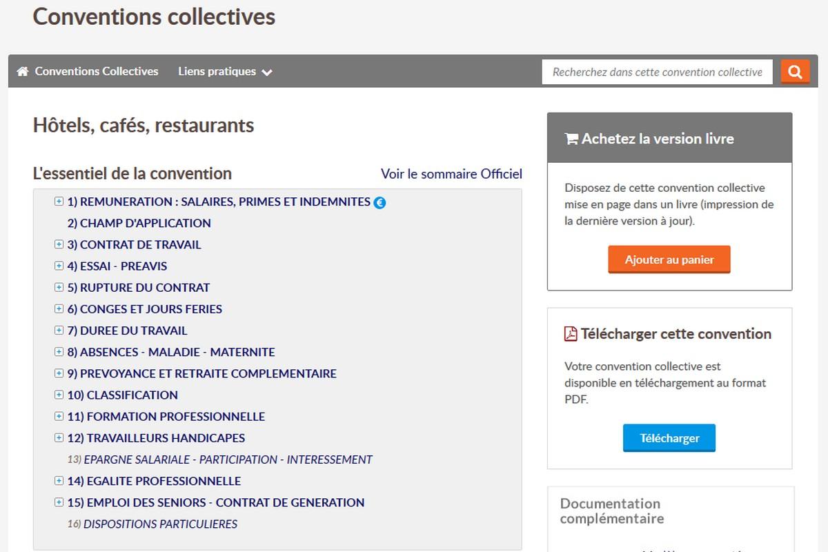 Droit Du Travail Hotels Cafes Restaurants