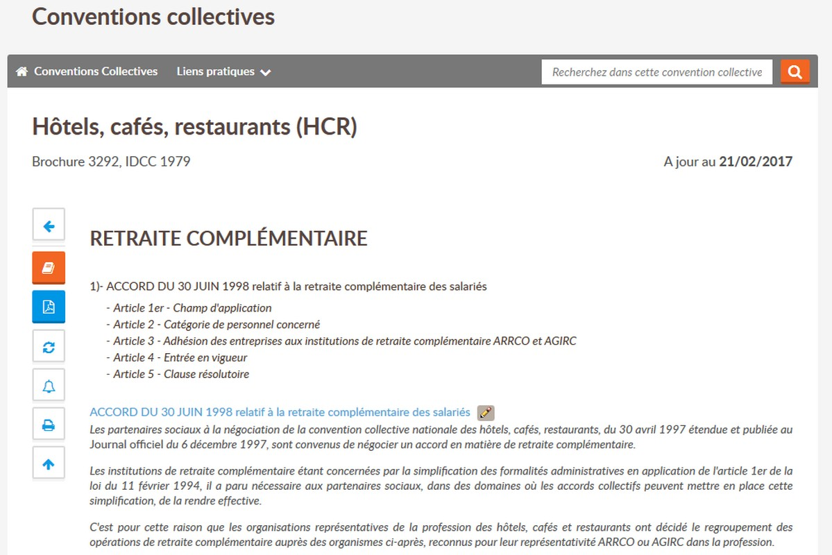 Convention Collective Hotel Cafe Restaurant Classification