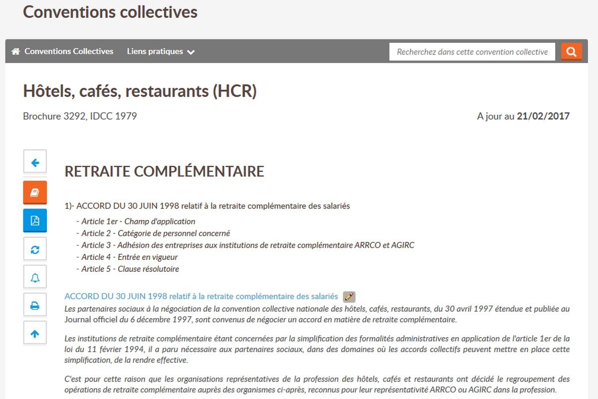 Droit Du Travail Hotels Cafes Restaurants Editions Tissot