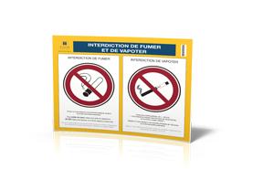 affichage interdiction de fumer et de vapoter. Black Bedroom Furniture Sets. Home Design Ideas