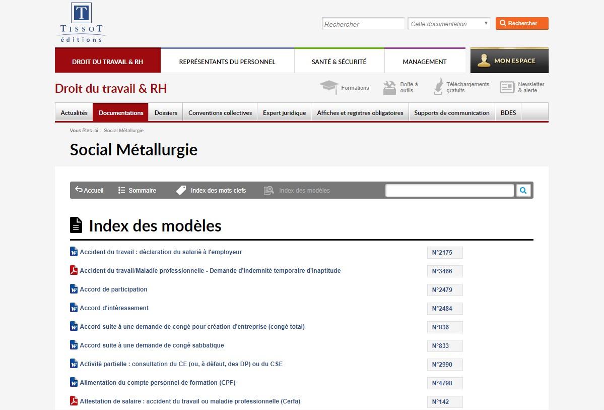 Social Metallurgie Editions Tissot
