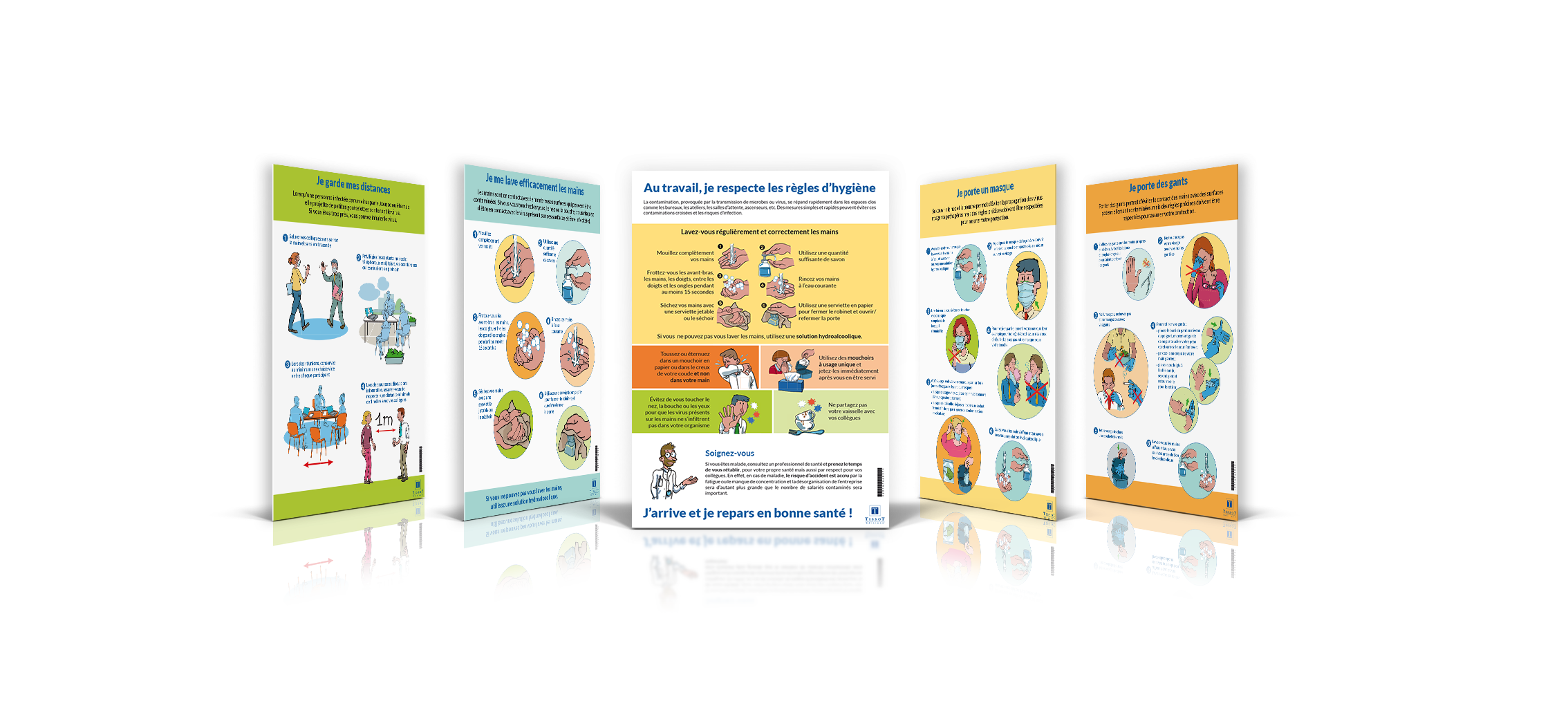 Pack 5 affiches prévention des contaminations