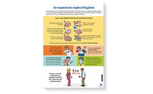 Affiche Les règles d'hygiène et de prévention pour l'accueil du public